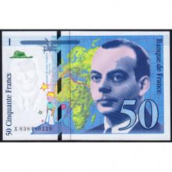 F 73-04 - 1997 - 50 francs - Saint-Exupéry - Série X - Etat : NEUF