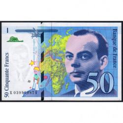 F 73-04 - 1997 - 50 francs - Saint-Exupéry - Série X - Etat : SPL