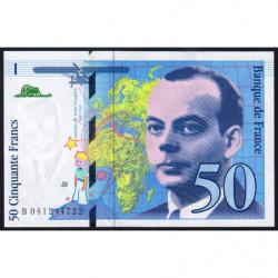 F 73-04 - 1997 - 50 francs - Saint-Exupéry - Série B - Etat : SUP