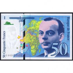 F 73-04 - 1997 - 50 francs - Saint-Exupéry - Série E - Etat : NEUF