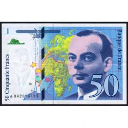 F 73-04 - 1997 - 50 francs - Saint-Exupéry - Série A - Etat : SUP