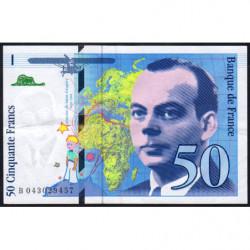F 73-04 - 1997 - 50 francs - Saint-Exupéry - Série B - Etat : TTB+