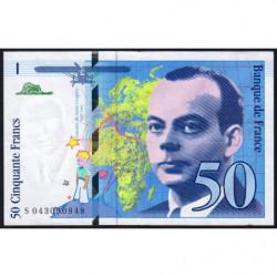 F 73-04 - 1997 - 50 francs - Saint-Exupéry - Etat : TTB-