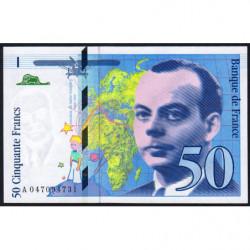 F 73-05 - 1999 - 50 francs - Saint-Exupéry - Série A - Etat : NEUF