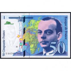 F 73-05 - 1999 - 50 francs - Saint-Exupéry - Série U - Etat : NEUF