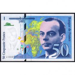 F 73-05 - 1999 - 50 francs - Saint-Exupéry - Série J - Etat : NEUF