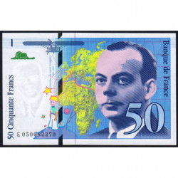 F 73-05 - 1999 - 50 francs - Saint-Exupéry - Série E - Etat : pr.NEUF