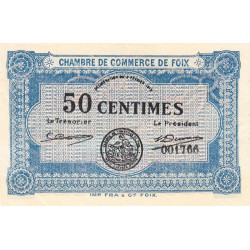 Foix - Pirot 59-01 - 50 centimes - 1915 - Etat : SPL