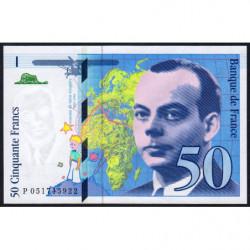 F 73-05 - 1999 - 50 francs - Saint-Exupéry - Etat : SPL