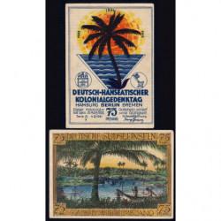 Allemagne - Notgeld - Berlin - Colonies allemandes - 75 pfennig - Série A - 04/11/1921 - Etat : TTB+