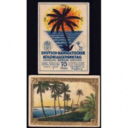 Allemagne - Notgeld - Berlin - Colonies allemandes - 75 pfennig - Série A - 04/11/1921 - Etat : TB+