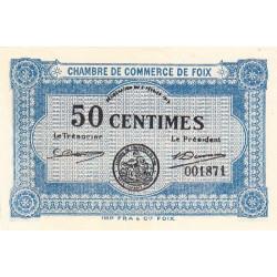 Foix - Pirot 59-01 - 50 centimes - 1915 - Etat : NEUF