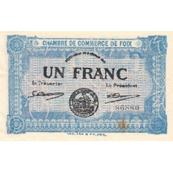 Foix - Pirot 59-3a - 1 franc - 02/02/1915 - Etat : SUP