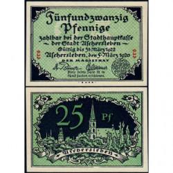Allemagne - Notgeld - Aschersleben - 25 pfennig - Lettres ers - 05/03/1920 - Etat : NEUF