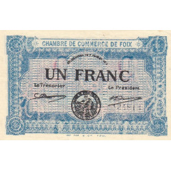 Foix - Pirot 59-3b - 1 franc - 1915 - Etat : NEUF