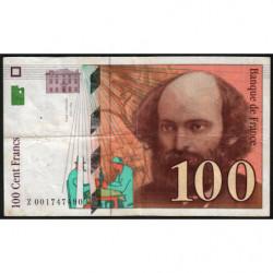 F 74-01 - 1997 - 100 francs - Cézanne - Etat : TB