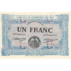 Foix - Pirot 59-03c - 1 franc - 1915 - Etat : SPL