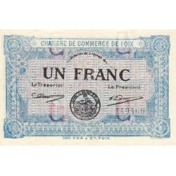 Foix - Pirot 59-3c - 1 franc - 1915 - Etat : SPL
