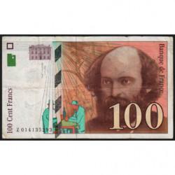 F 74-01 - 1997 - 100 francs - Cézanne - Etat : TB-