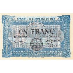 Foix - Pirot 59-3d - 1 franc - 1915 - Etat : SPL