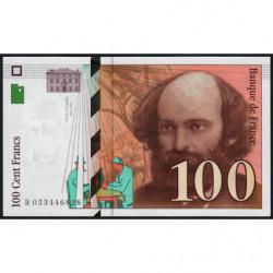 F 74-02 - 1998 - 100 francs - Cézanne - Série R - Etat : SPL+