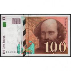F 74-02 - 1997 - 100 francs - Cézanne - Etat : TTB+