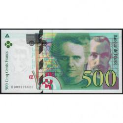 F 76-01 - 1994 - 500 francs - Pierre et Marie Curie - Série H - Etat : NEUF