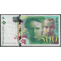 F 76-01 - 1994 - 500 francs - Pierre et Marie Curie - Série E - Etat : TB