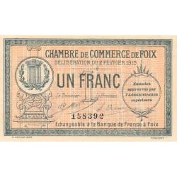 Foix - Pirot 59-10 variété - 1 franc - 02/02/1915 - Etat : SUP