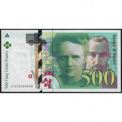 F 76-01 - 1994 - 500 francs - Pierre et Marie Curie - Série G - Etat : NEUF