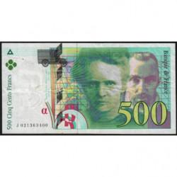 F 76-01 - 1994 - 500 francs - Pierre et Marie Curie - Série K - Etat : TB