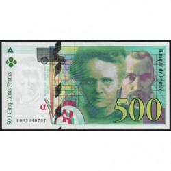 F 76-01 - 1994 - 500 francs - Pierre et Marie Curie - Série H - Etat : SUP