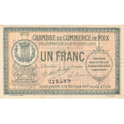 Foix - Pirot 59-10a - 1 franc - 1915 - Etat : TB+