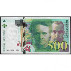 F 76-01 - 1994 - 500 francs - Pierre et Marie Curie - Série Q - Etat : TTB