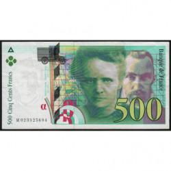 F 76-01 - 1994 - 500 francs - Pierre et Marie Curie - Série M - Etat : TB+