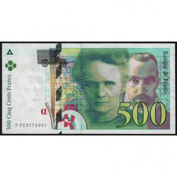 F 76-01 - 1994 - 500 francs - Pierre et Marie Curie - Série P - Etat : TB+