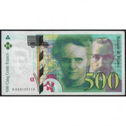F 76-01 - 1994 - 500 francs - Pierre et Marie Curie - Série B - Etat : TTB+