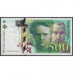 F 76-01 - 1994 - 500 francs - Pierre et Marie Curie - Série F - Etat : TTB+