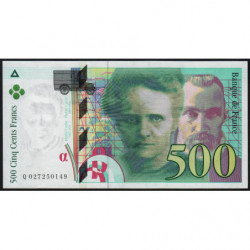 F 76-01 - 1994 - 500 francs - Pierre et Marie Curie - Série Q - Etat : pr.NEUF
