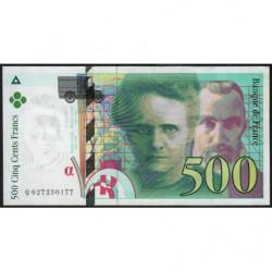 F 76-01 - 1994 - 500 francs - Pierre et Marie Curie - Série Q - Etat : SUP+