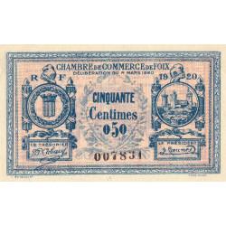 Foix - Pirot 59-13a - 50 centimes - 1920 - Etat : SUP