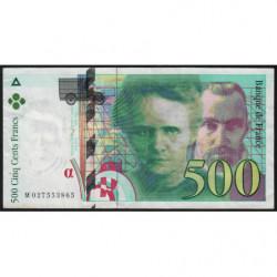 F 76-01 - 1994 - 500 francs - Pierre et Marie Curie - Etat : TB+