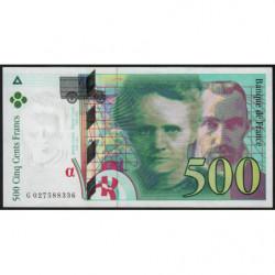 F 76-01 - 1994 - 500 francs - Pierre et Marie Curie - Série G - Etat : SUP