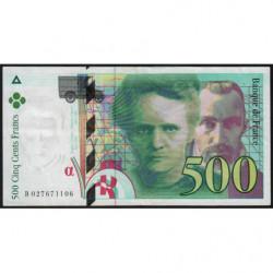 F 76-01 - 1994 - 500 francs - Pierre et Marie Curie - Série B - Etat : TTB