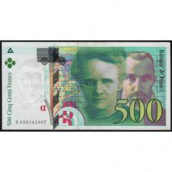 F 76-01 - 1994 - 500 francs - Pierre et Marie Curie - Série N - Etat : TTB+