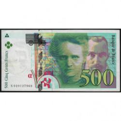 F 76-01 - 1994 - 500 francs - Pierre et Marie Curie - Série N - Etat : TTB