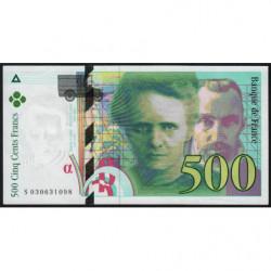 F 76-01 - 1994 - 500 francs - Pierre et Marie Curie - Série S - Etat : SPL+