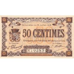 Granville - Pirot 60-01a - 50 centimes - 1915 - Etat : NEUF