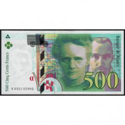 F 76-02 - 1995 - 500 francs - Pierre et Marie Curie - Série N - Etat : TTB+