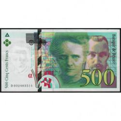 F 76-02 - 1995 - 500 francs - Pierre et Marie Curie - Série D - Etat : TTB+